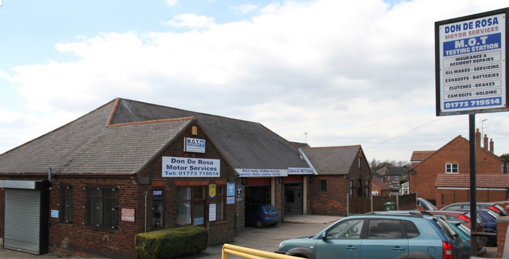 Front view of Don De Roas Motor Services - MOT Heanor